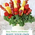 Pin for how to make a fruit bouquet
