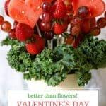 Valentine's heart edible fruit arrangement