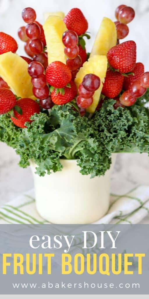 Edible fruit bouquet homemade
