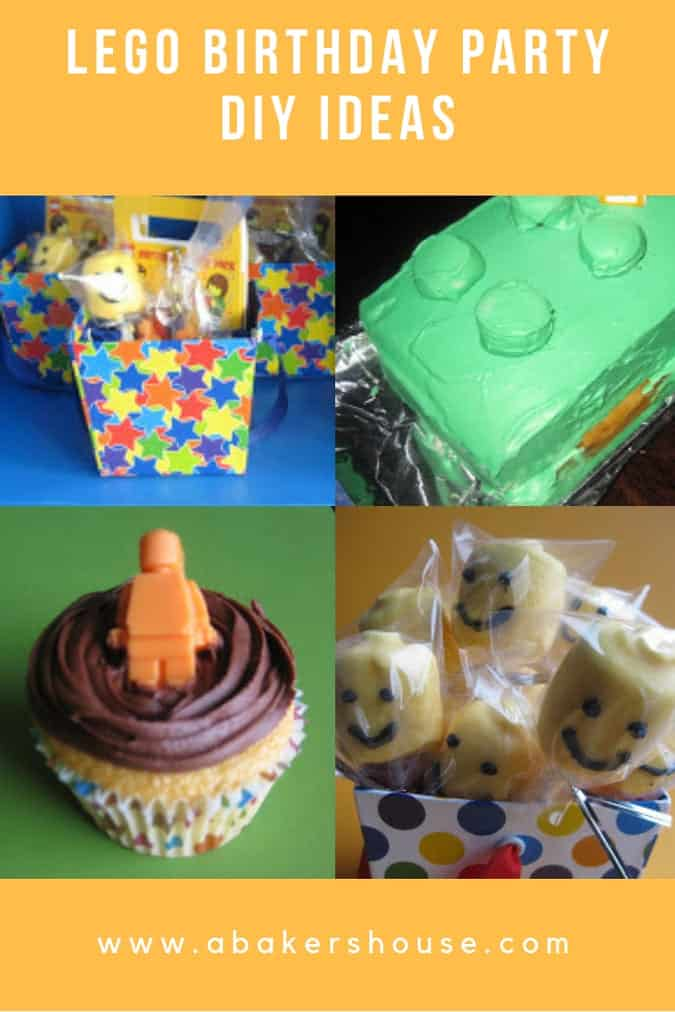 Pinterest Image collage for lego ideas for lego birthday party
