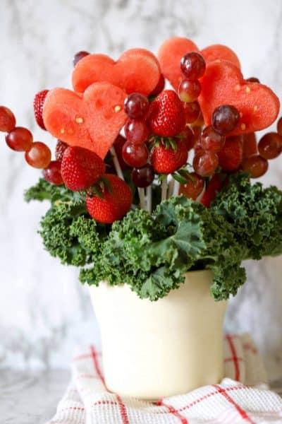 Valentines DIY Fruit Bouquet
