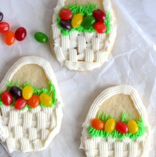 Sugar Cookie Easter Basket Cookies
