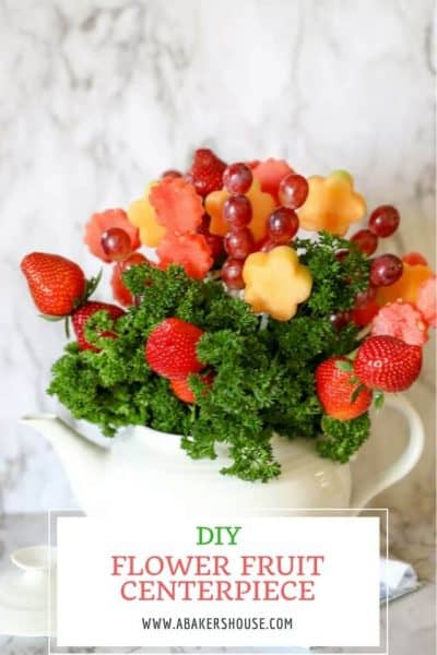Pin for how to make a flower fruit centerpiece