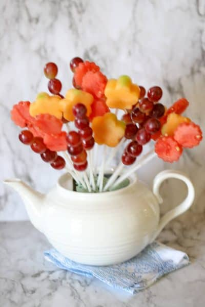 Step by step flower fruit centerpiece