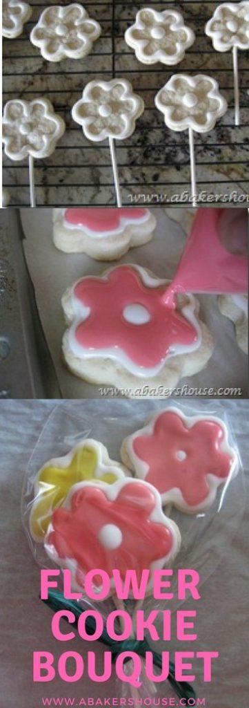pinterest pin flower cookie bouquet