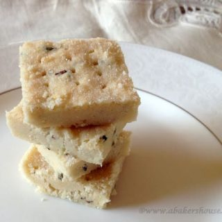 Recipe for lavender shortbread