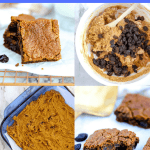 Pin with collage of four photos making gluten free hermit bar recipes