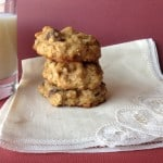 banana choc chip oatmeal cookie