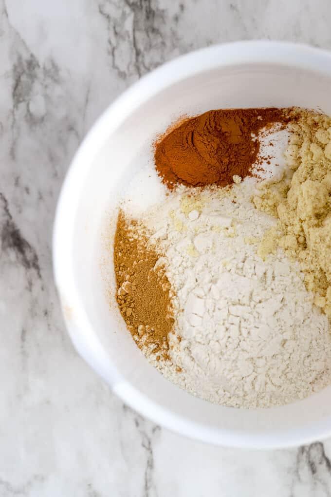 Dry ingredients for gluten free hermit bars