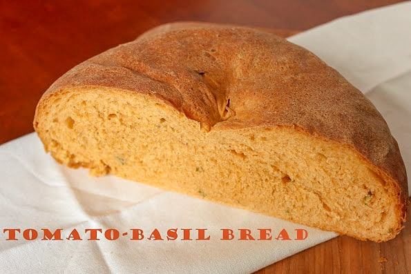 Homemade tomato basil bread
