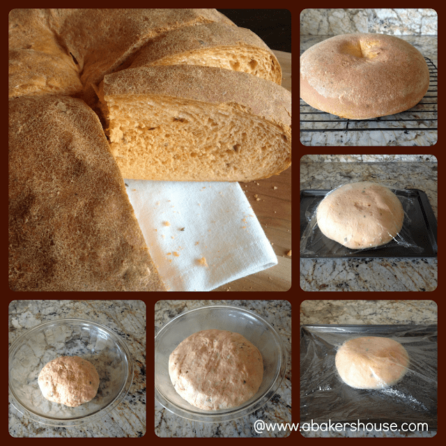 how to make tomato basil bread step by step photo collage
