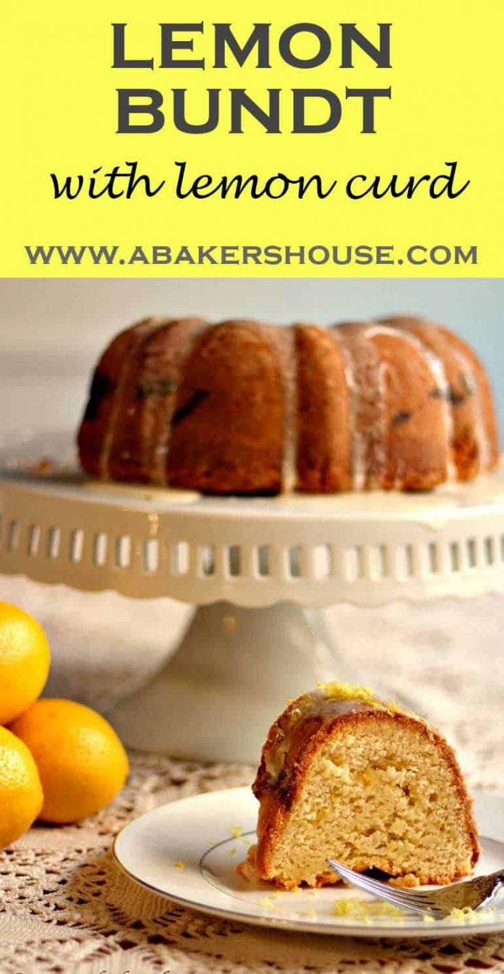This lemon bundt with lemon curd filling is an ode-to-lemon in cake form. Lemon juice, lemon zest, lemon curd, and a lemon glaze product a bright, lemony bite.#lemon #bundt #cake# poundcake #abakershouse