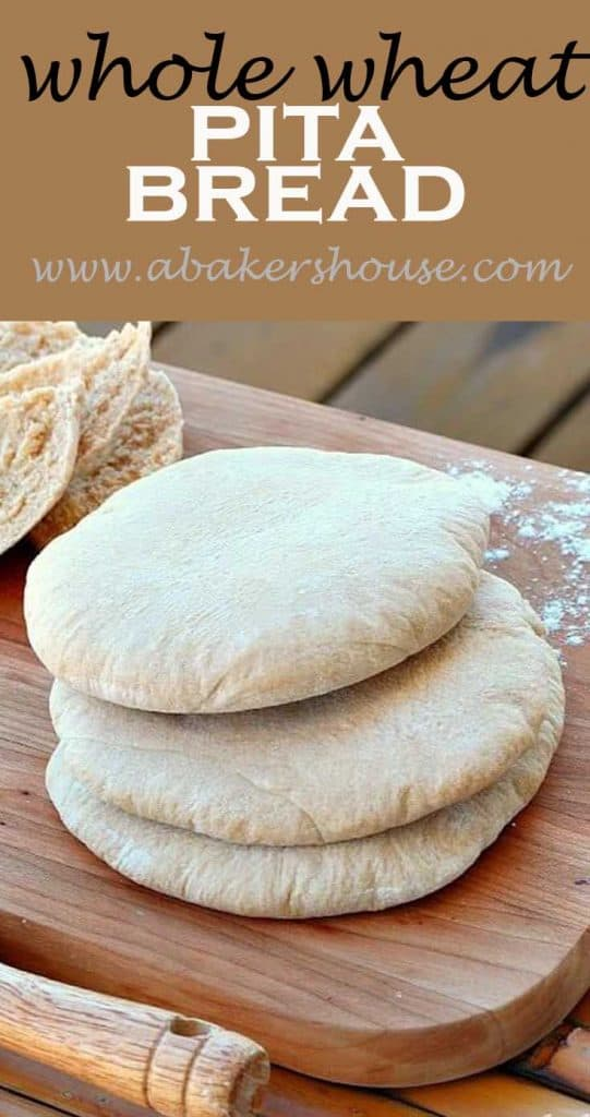 Whole wheat pita bread pin