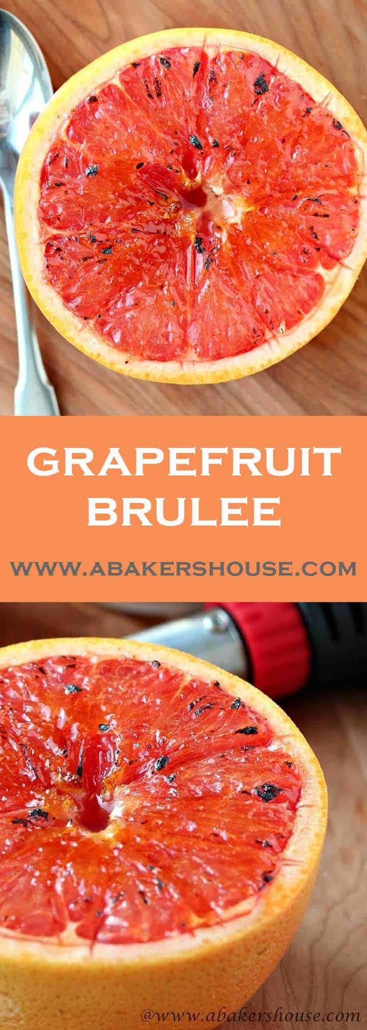 Surprise yourself by loving this healthy dessert-- Grapefruit Brulee fancies up a fruit to make it fit for an unexpected dessert. #grapefruit #brulee #healthydessert #abakershouse