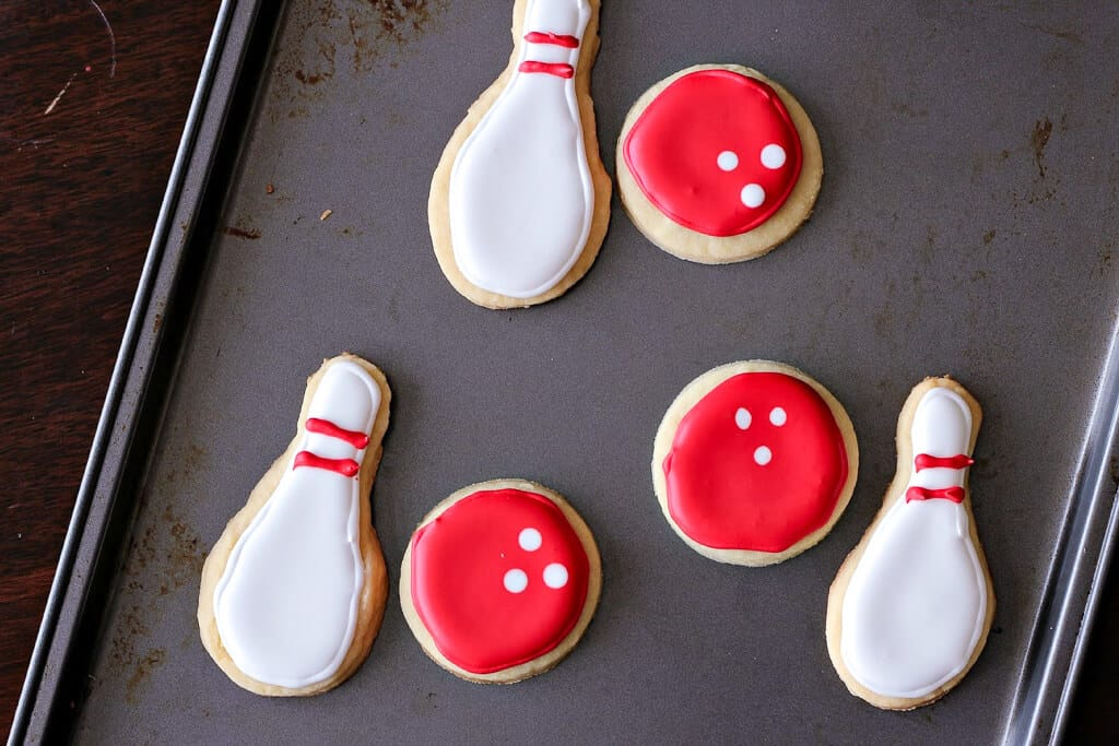 Bowling Ball and Pin Cookies