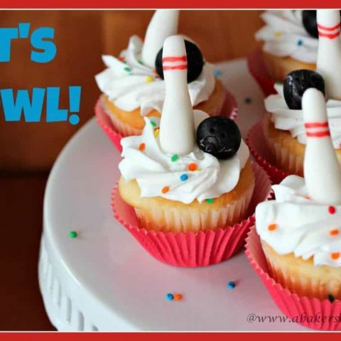How to make Bowling Cupcake Toppers