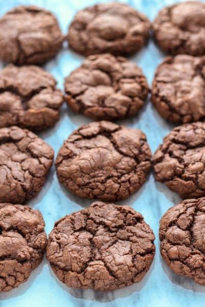 Brownie Cookies on marble