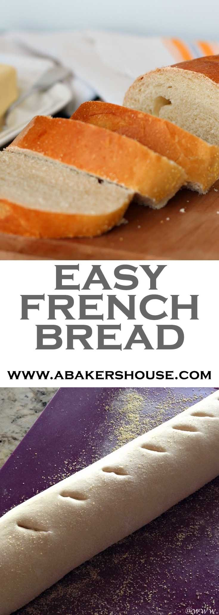 Making homemade bread doesn't have to be difficult. Follow this recipe originally from the Food Network to make two loaves of French bread at home. #abakershouse #french #frenchbread #homemadebread