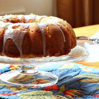 Lime and Coconut Bundt Cake for #BundtAMonth