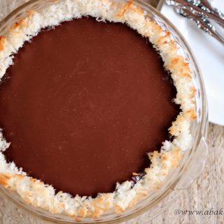 Coconut and Chocolate Pie for #PiDay