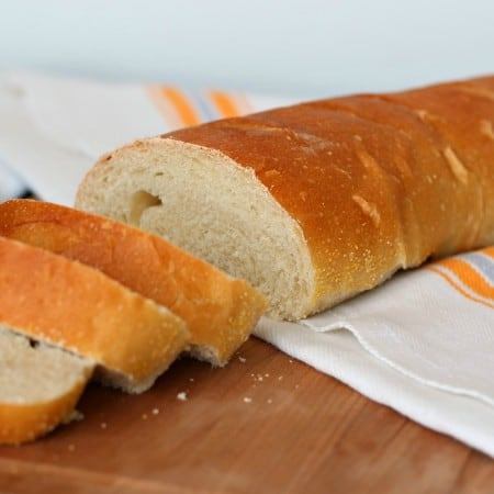 Sliced loaf of French Bread