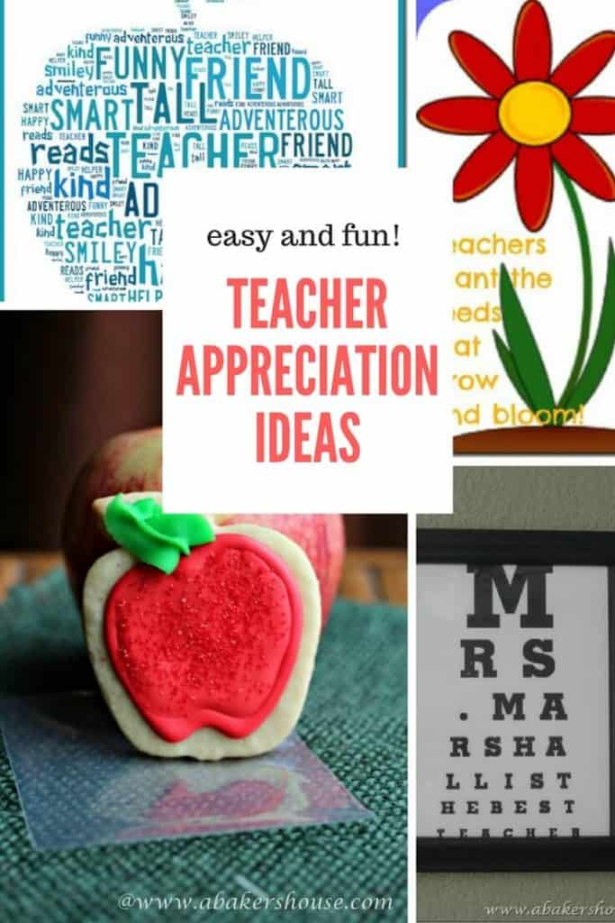 Ideas for Teacher Appreciation day