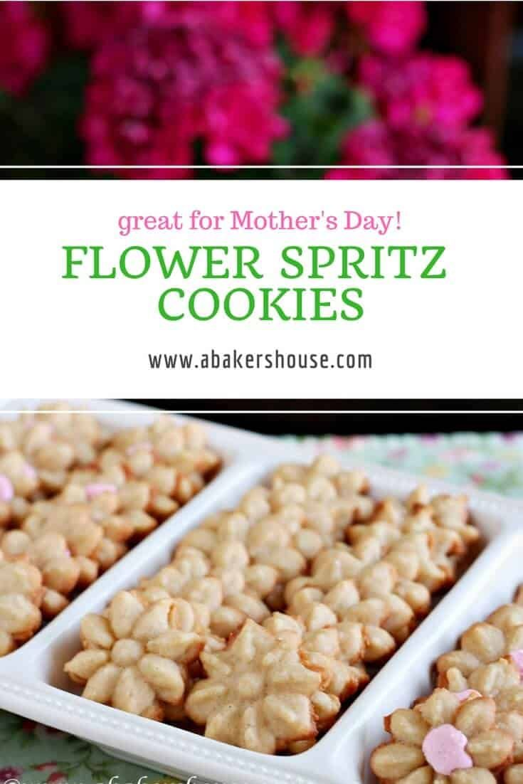 Spritz Flower Cookies A Baker S House