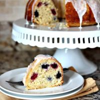 Lemon-Berry Bundt for #BundtaMonth May