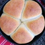 Pinterest image for focaccia in cast iron pan