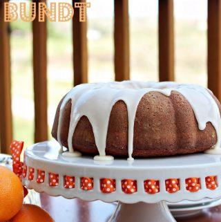 Orange Creamsicle Bundt Cake for #BundtaMonth June