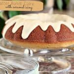 Brown Butter Bundt Cake with Salted Caramel Icing
