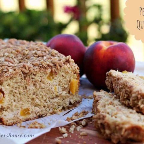 Peach-Oat Quick Bread