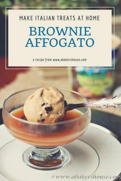 Brownie Affogato inspired Italian dessert