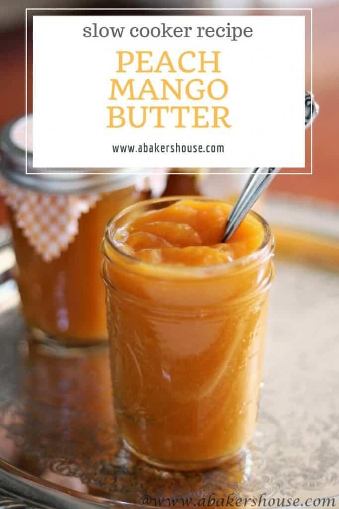 Peach mango butter in mason jars