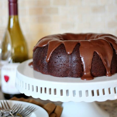Chocolate and Wine Bundt Cake for #BundtaMonth