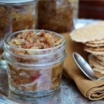 Onion Bacon jam in small mason jar