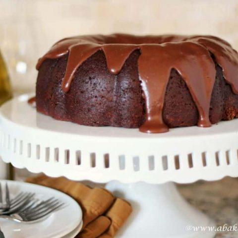 Chocolate and Wine Bundt Cake