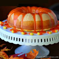 Candy Corn Bundt Cake
