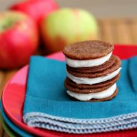 Ginger Sandwich Cookies with Apple Butter Cream Filling