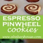Pin images for espresso pinwheel cookies in step by step photos