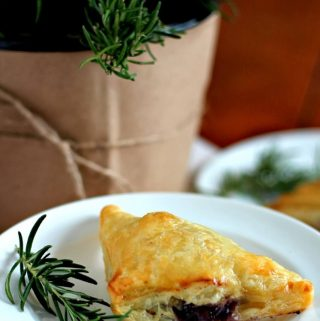 Brie Puffs with Smoky Blueberry-Rosemary Sauce