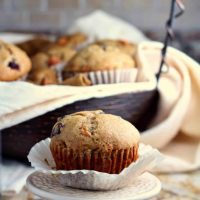 Spiced Muffins with Persimmons