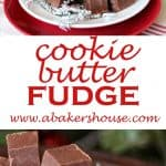 Plates of cookie butter fudge