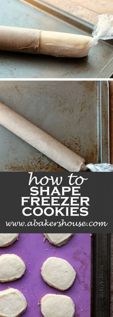 Pinterest image for slice and bake cookies