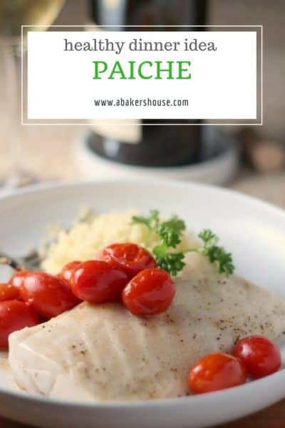 Oven roasted paiche recipe with cherry tomatoes