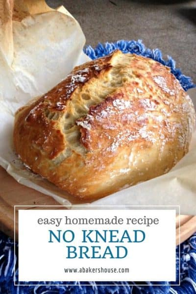 Recipe for No Knead Bread in the Dutch oven