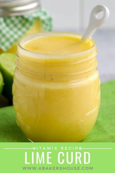 Lime curd in a mason jar with spoon