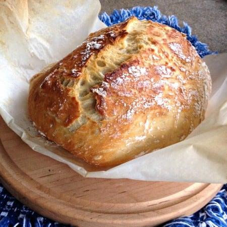 No Knead Bread in the Dutch Oven