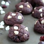chocolate dried cherry cookies