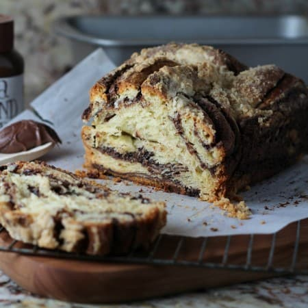 Homemade chocolate swirl bread